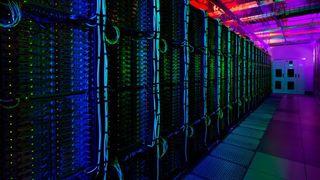Bildet er fra Microsofts datasenter i Washington, USA.