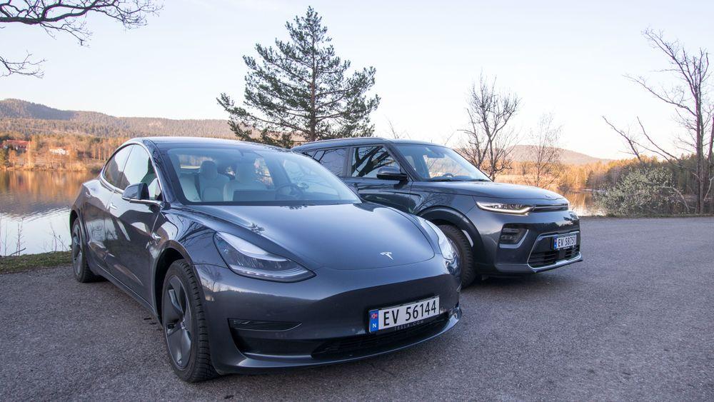 Tesla Model 3 ligger hakket foran de andre elbilene i statistikken over nye biler solgt i mai.