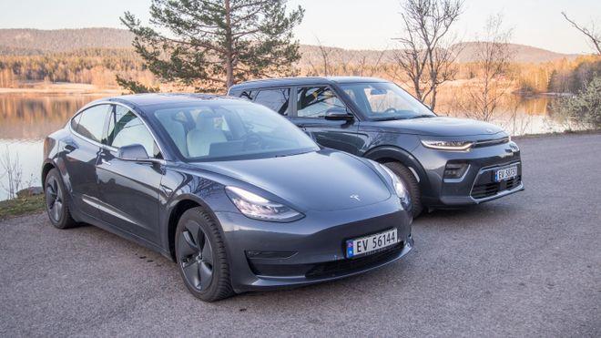 Ifølge flere norske forsikringsselskaper er Tesla og Kias elbiler verstinger på skadestatistikken.
