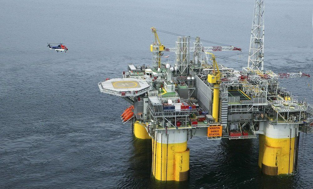 Ut fra beliggenheten, ressursene og pengene er Norge viktig for EU, ikke minst for Tyskland, som Europas nest største eksportør av gass, skriver Øystein Noreng. Bilde fra Kristin-plattformen.