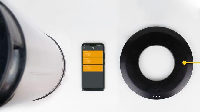 Plaato Keg er formet som en ring som passer under et Cornelius-fat. Ringen kobles til wifi og kommuniserer med en skytjeneste, som man får tilgang til gjennom en egen mobil-app.