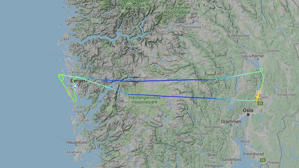 SAS-flyet måtte returnere til Oslo Lufthavn lørdag formiddag.
