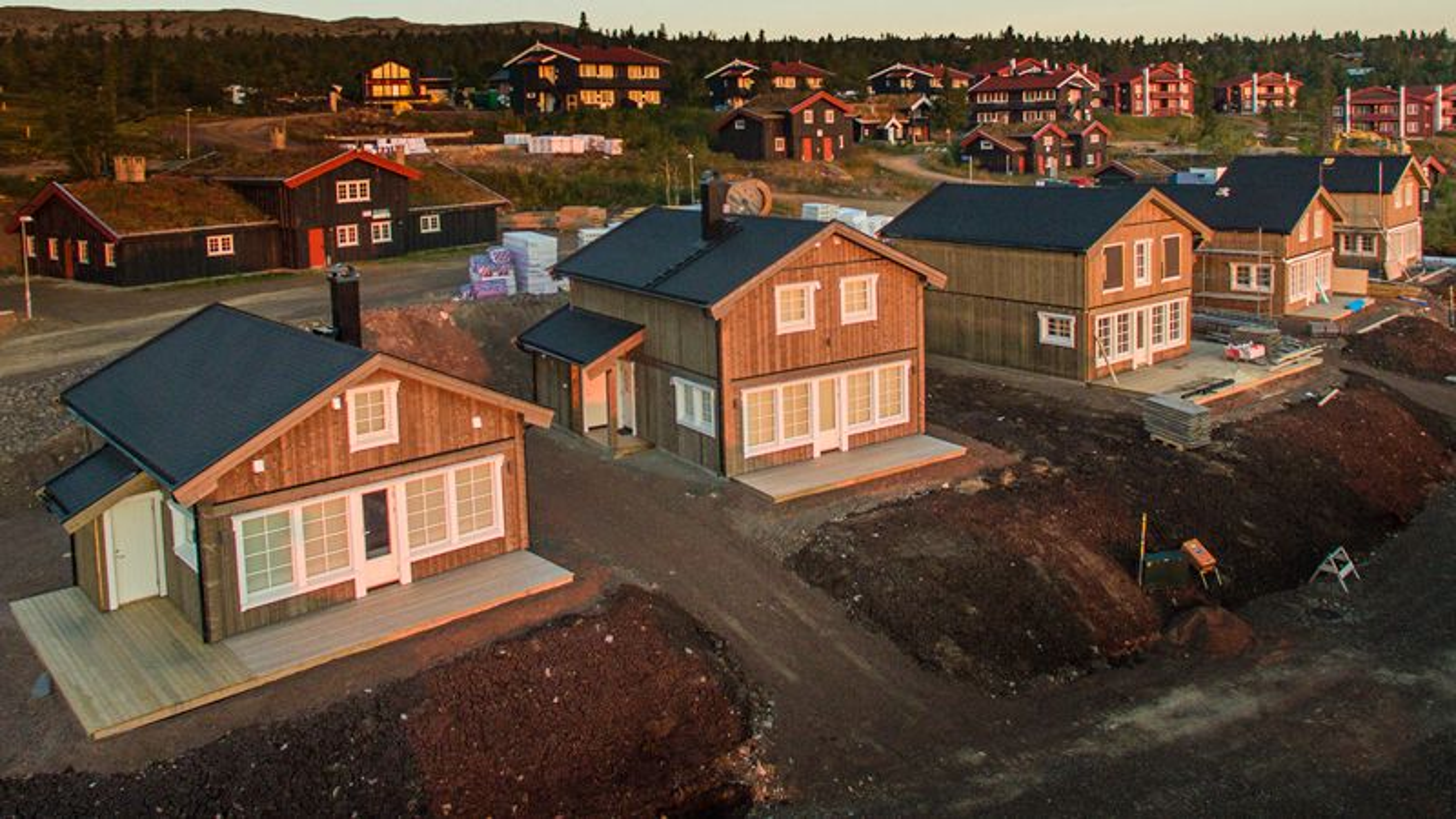 Trysil Byggsystem har oppført en rekke hus og hytter og Trysil og omegn de siste åtte årene. Her fra Fageråsen.