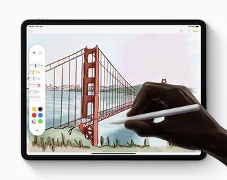 Støtten for Apple Pencil har blitt forbedret, blant annet med en ny verktøypalett