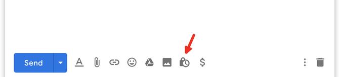 I webklienten av Gmail velges konfidensiell modus fra verktøylinjen.