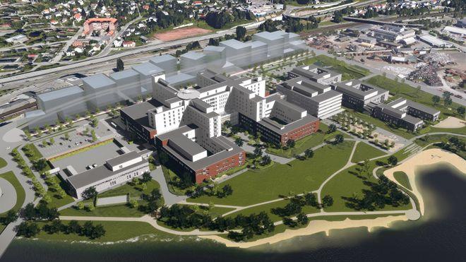 Bygger sykehus på elvebredden – forventer at tomta synker fra start