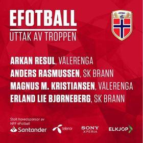 Uttaket av Norges eFotballandslag.