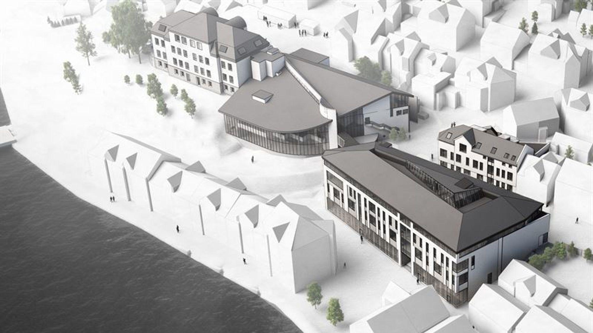 Det skal både rehabiliteres og bygges nytt på Eilert Sundt videregående i Farsund.