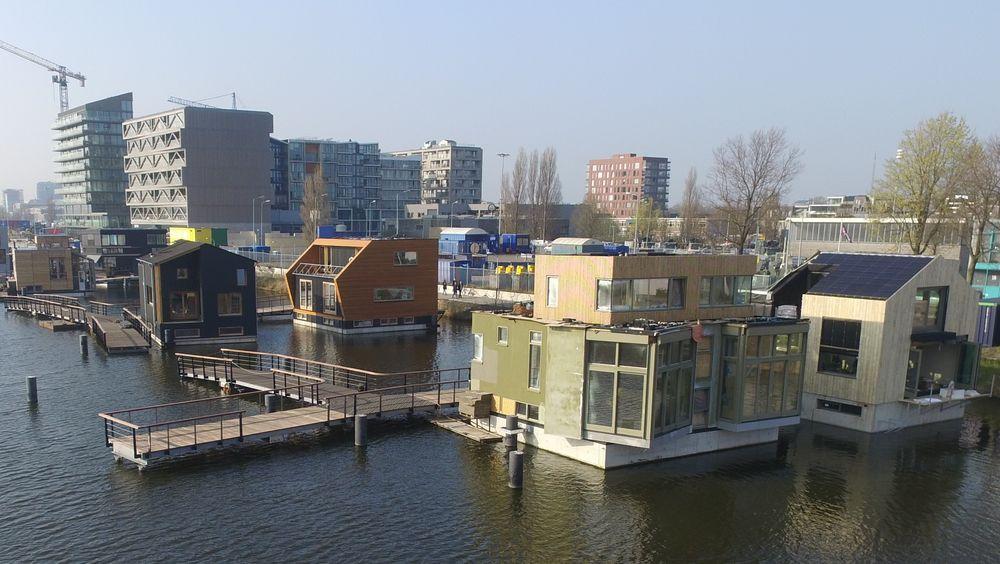 De flytende husene i Schoonship skal kunne produsere mer energi enn de bruker.