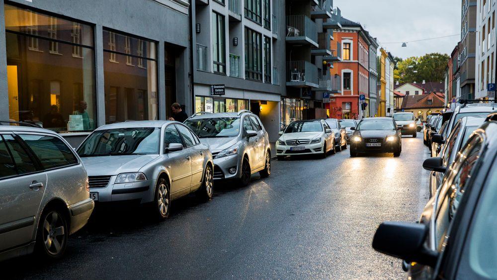 Oslo-byråd Hanna E. Marcussen (MDG) ønsker seg enda færre parkeringsplasser og flere gang- og sykkelveier i Oslo sentrum.