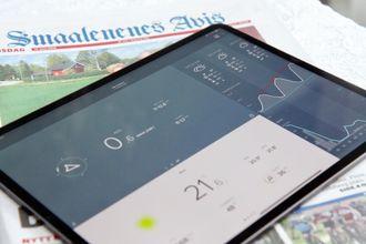 iPad Pro med Netatmo-appen oppe på skjermen.