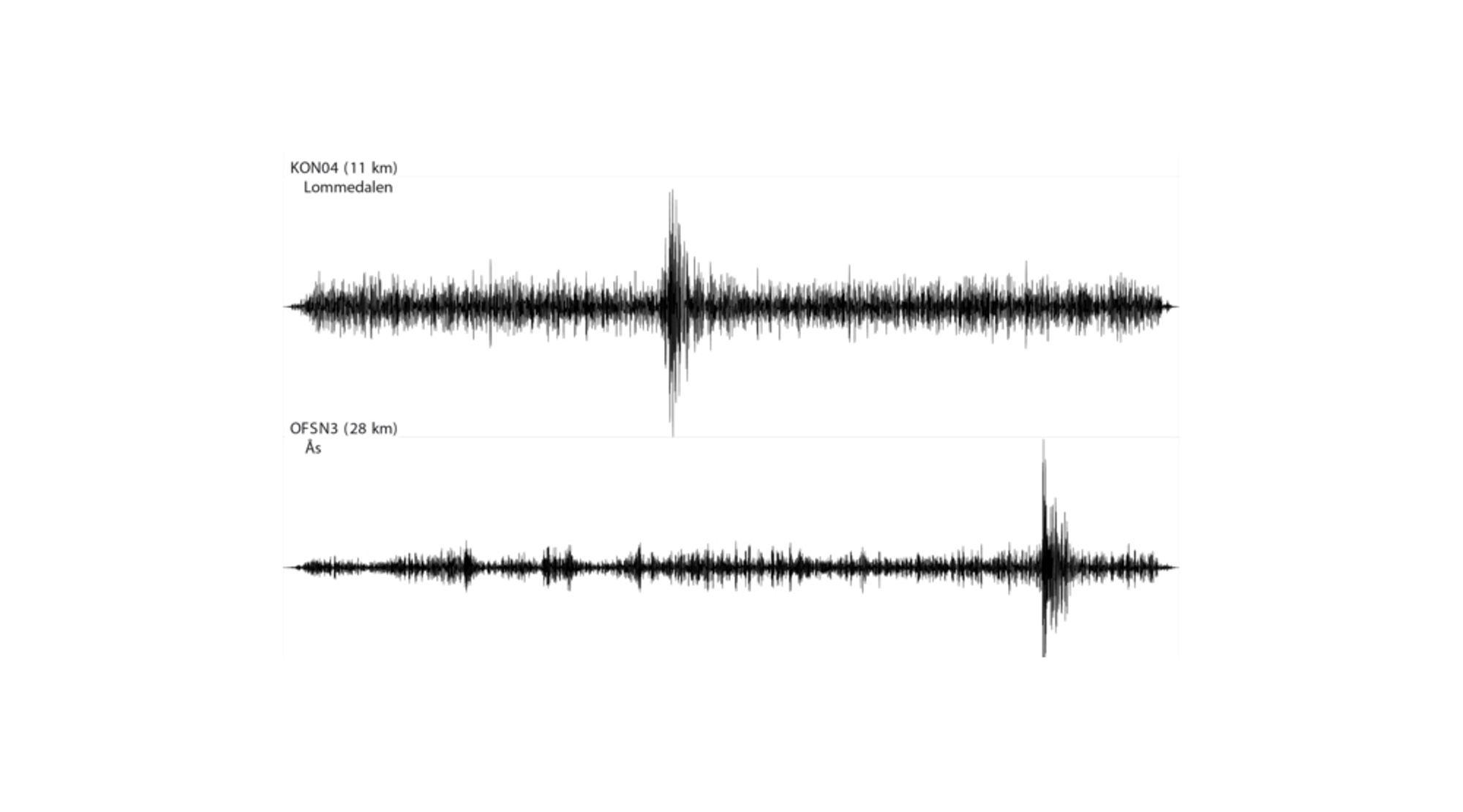 Eksplosjonen i Sandvika mandag ble fanget opp av Norsars seismiske målestasjoner i Lommedalen og på Ås.