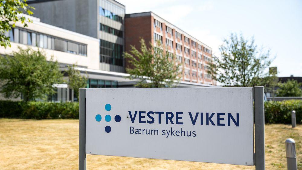Vestre Viken Helseforetak får 10 millioner kroner i støtte til utvikling av teknologi av videooverføring av nødsamtaler. Avbildet er Bærum sykehus i Sandvika.