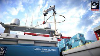 MacGregor i Kristiansand og Arendal skulle opprinnelig utvikle en robot for montering av bygningsplater. Det første kommersielle produktet blir i stedet en fortøyningsrobot,.
