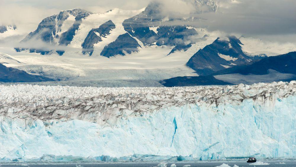 Opptiningen av permafrosten ved Arktis skjer nå raskt, og gir store konsekvenser for  arktiske innbyggere. Illustrasjonsbilde fra Alaska, Kenai-fjorden.
