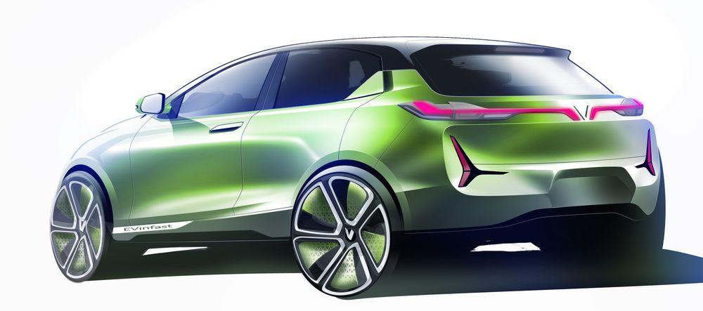 Med dette elbil-designet vant ItalDesign vietnamesernes gunst. V-en på bakluken står for Vietnam.