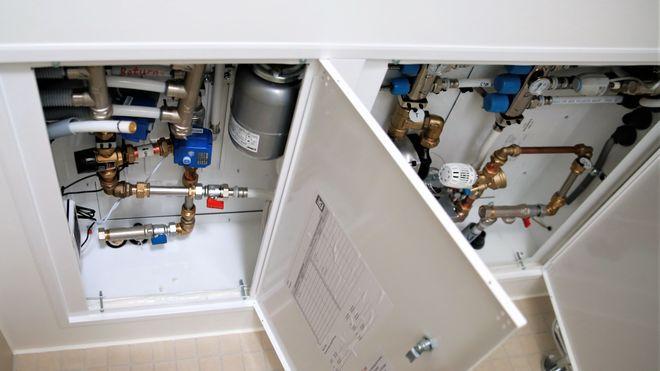 AF-gruppens varmeanlegg, vannbåren varme, tappevann, varmtvann, sjøvann, fjernvarme