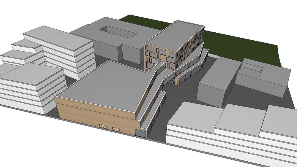 Slik er kulturkvartalet tenkt plassert i Vestby sentrum.