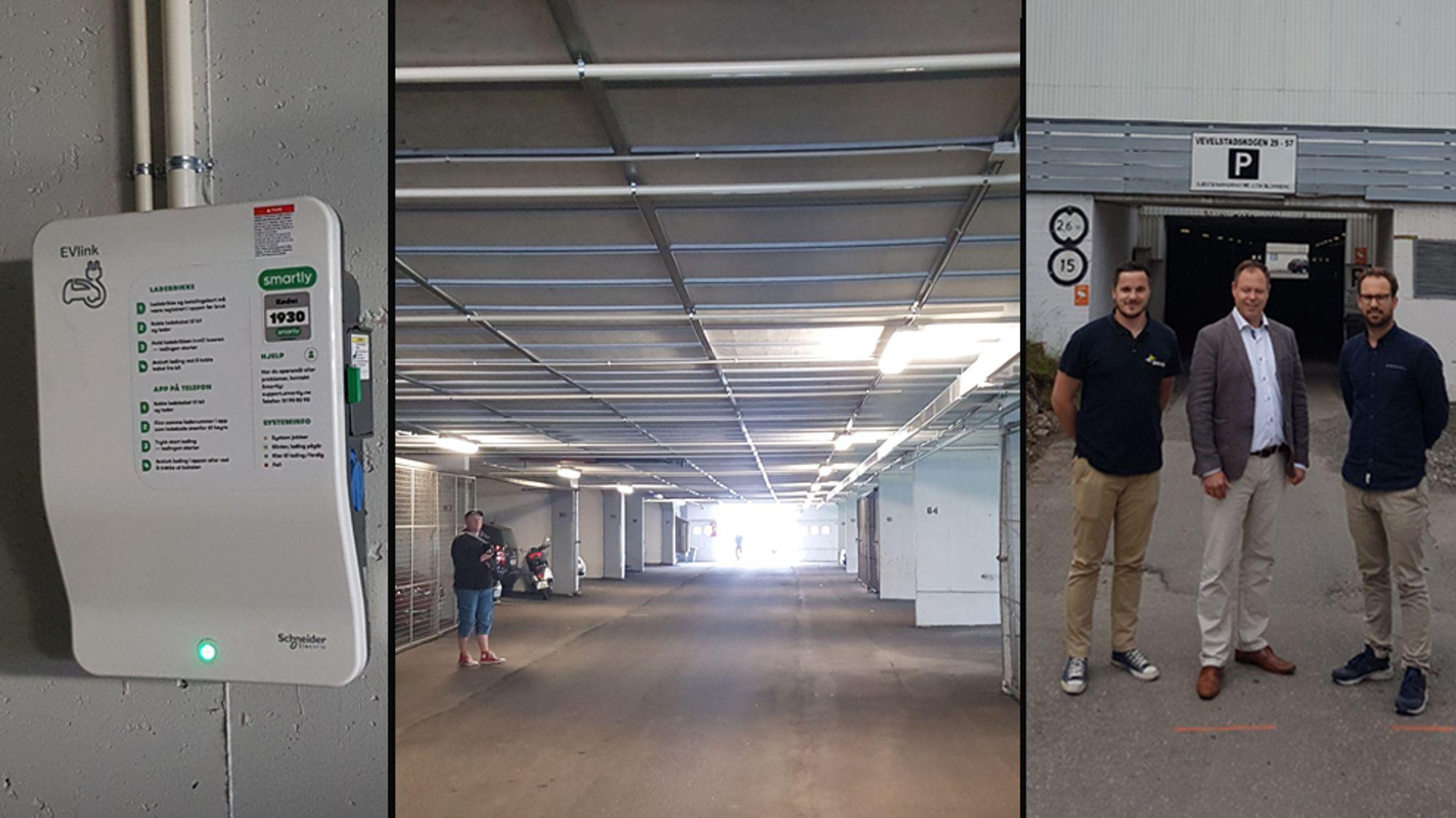 Vevelstadåsen grendelag består av 3 sameier med 683 leiligheter. Nå har alle garasjeplassene fått mulighet til å lade elbil.