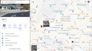 Google Maps-oppføringen til digi.no.
