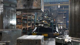 Produksjonsutstyr i tungindustrien.