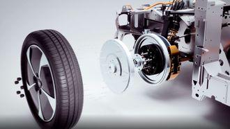 Hvert hjul har sin egen motor.