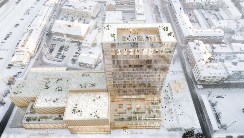 Teater, bibliotek, kunsthall og museum skal få plass i det nye kulturhuset i Skellefteå.