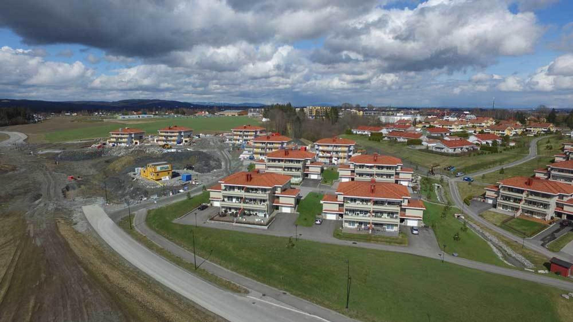 Boligprosjektet Nystulia i Gjerdrum kommune var et av Nygaard Byggs mange referanseprosjekter.