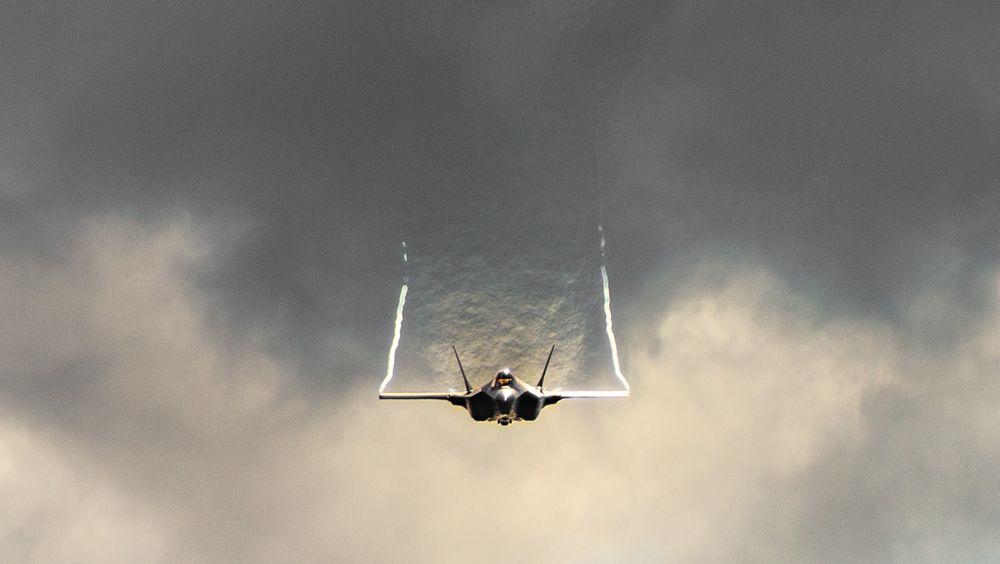 Fra F-35A-demonstrasjon på Bagotville International Air Show i Canada 22. juni.