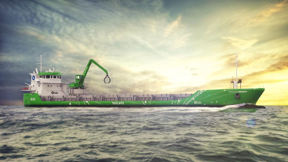Rederiet Hagland skal bygge om selvlosseren Hagland Captain til hybrid framdrift. Gravemaskinen blir helelektrisk.
