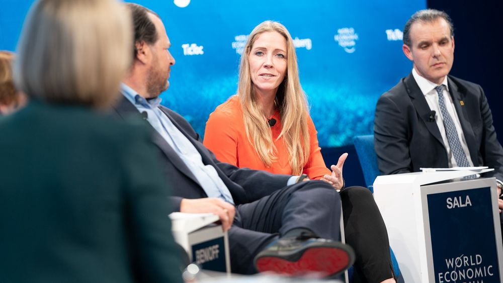 Nina Jensen, her på seminaret «Taking Action for the Ocean» på World Economic Forum i Davos i januar.