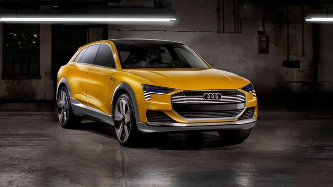 Audi H-Tron er en ren hydrogenelektrisk konseptbil svært nært i slekt med elbilen E-Tron.