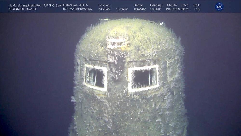 Havforskningsinstituttet bruker et fjernstyrt undervannsfartøy for å finne ut om det er radioaktiv lekkasje fra den sunkne russiske atomubåten Komsomolets i Barentshavet.