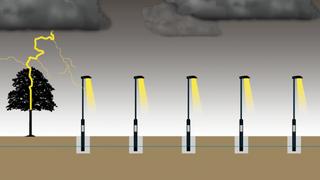 Gatelys knust av lyn: Følsomme LED-armaturer sitter svært tett