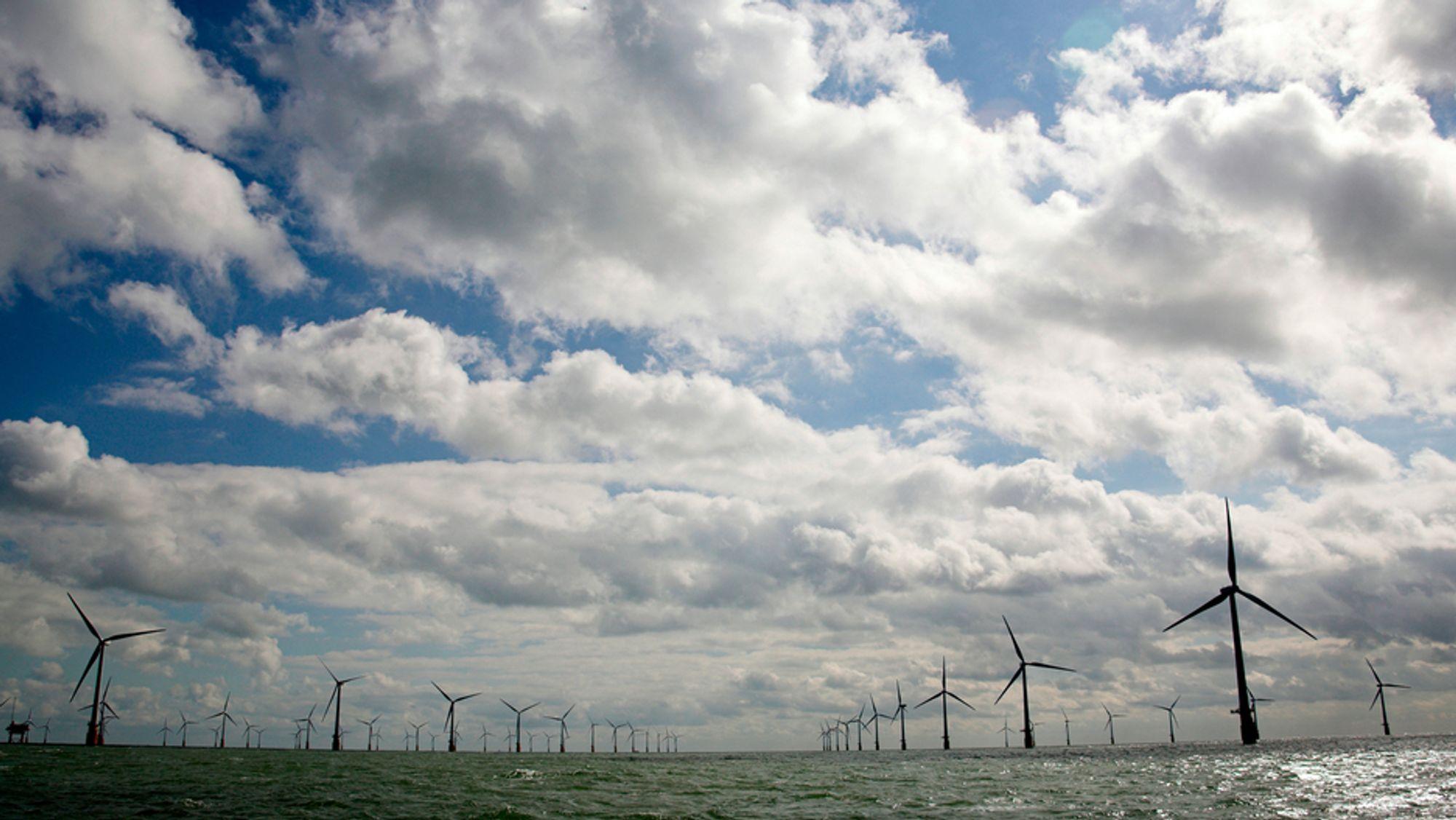 Storbritannia skal femdoble eksport av offshore vindteknologi til 2,6 milliarder pund innen 2030, skriver Ivar Slengesol. Bildet er fra Thanet offshore wind farm utenfor Kent i Sør-England.