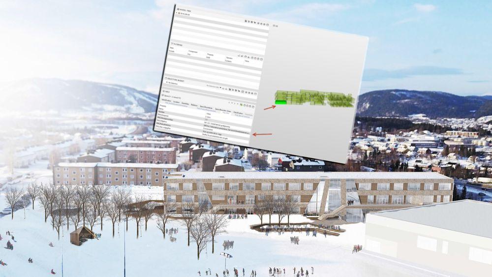 Cowi integrerer miljøkrav i den digitale informasjonsmodellen BIM når de prosjekterer nye Gruben barneskole i Rana kommune.