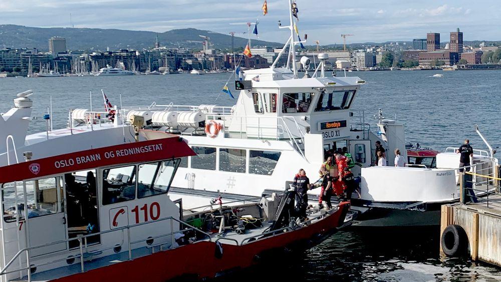 Fergen Oslo XI kolliderte med brygga på Hovedøya utenfor Oslo.