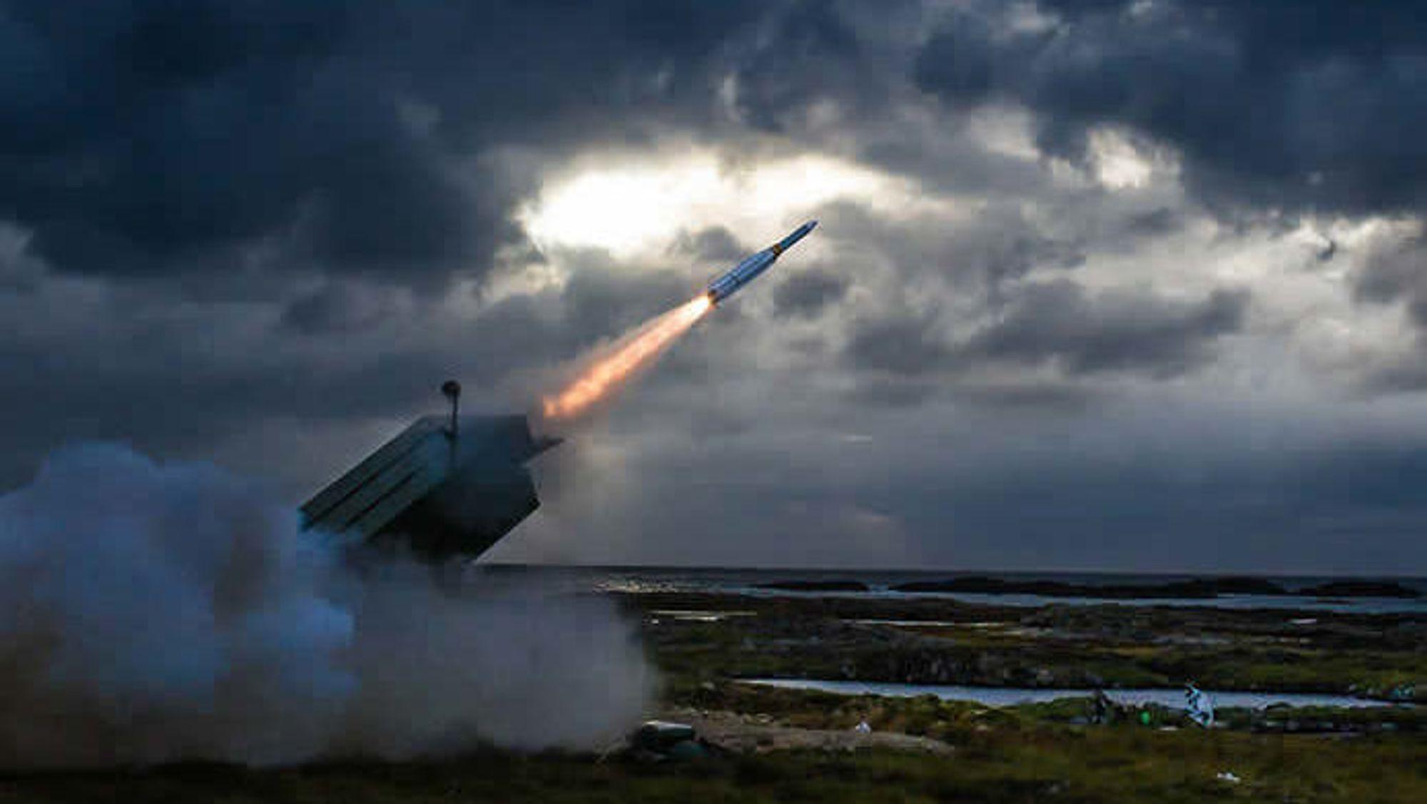 Fra testfyringa av AMRAAM-ER med NASAMS på Andøya for snart tre år siden.