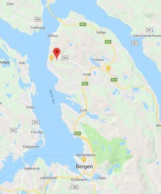Toppe ligger nord i Bergen.