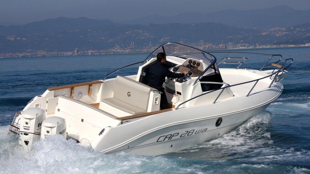 Sjefredaktør Jan M. Moberg får kritikk for sitt utspill mot båtprodusentene. Her en CAP 28 WA, som Moberg selv har hatt.