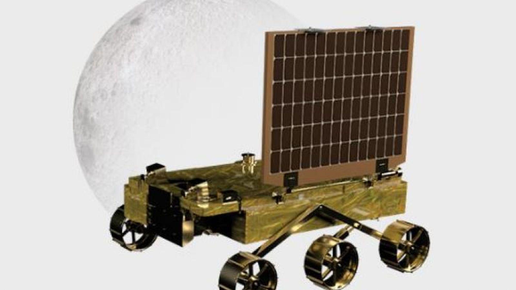 Slik ser roveren ut som skal inspisere sørpolen på Månen.