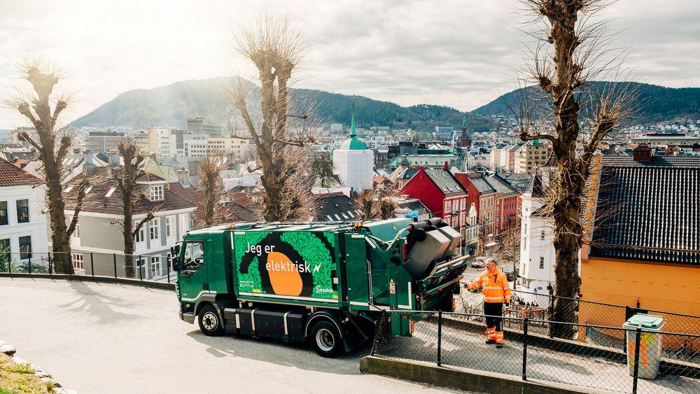 Bergen er en av de store kommunene hvor andelen avfall som har gått til materialgjenvinning, har vært lav.