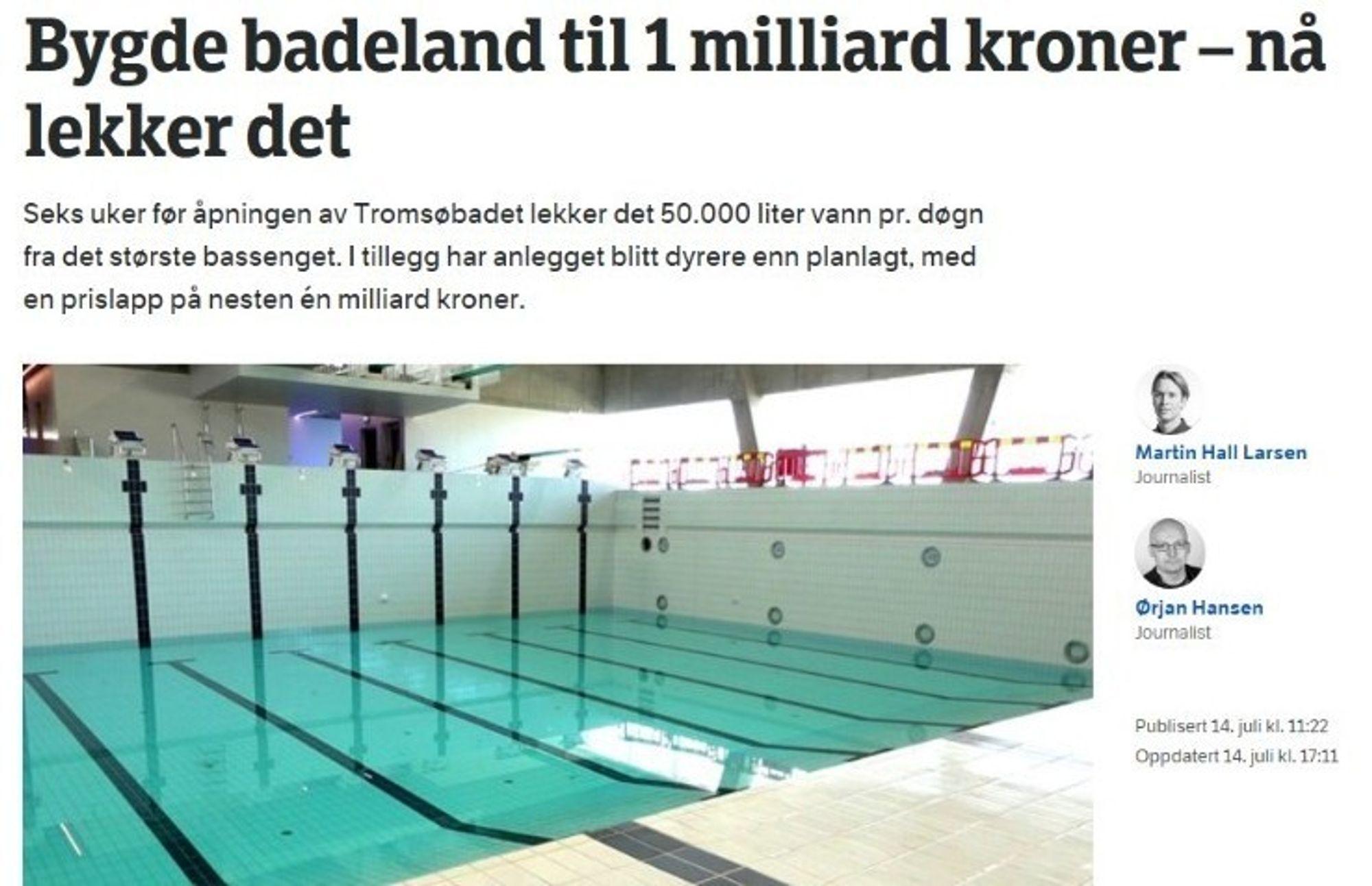 c3f80579 SKJERMDUMP: Gunnar Sveen henviser til artikkelen på nrk.no om svømmehallen  i Tromsø.