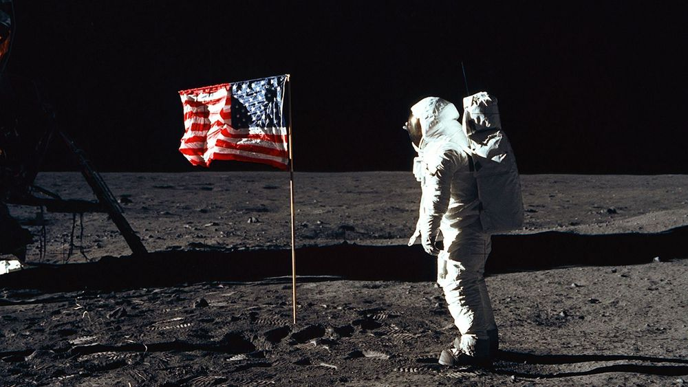 Bildet viser Buzz Aldrin og ble tatt av Neil Armstrong etter at han som første menneske satte foten på en annen planet og uttalte de berømte ordene «That's one small step for a man, one giant leap for mankind»