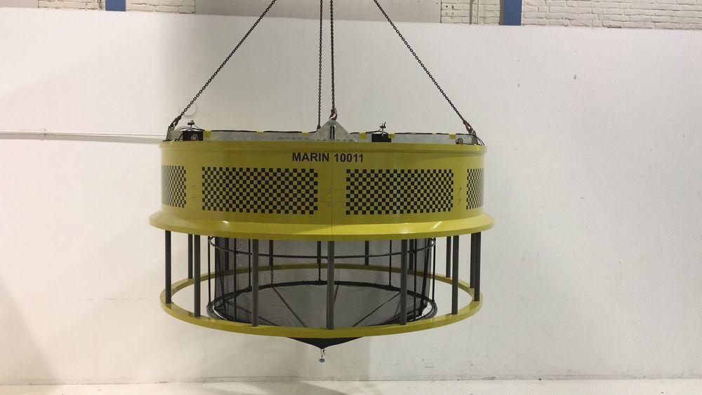 Spidercage har nå fått fire tillatelser. Bildet er fra modelltestene av anlegget i tank.