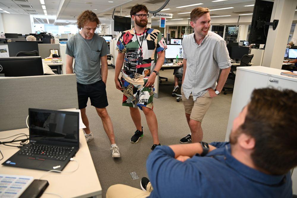 Kan journalister bruke shorts på jobb ja eller nei? I