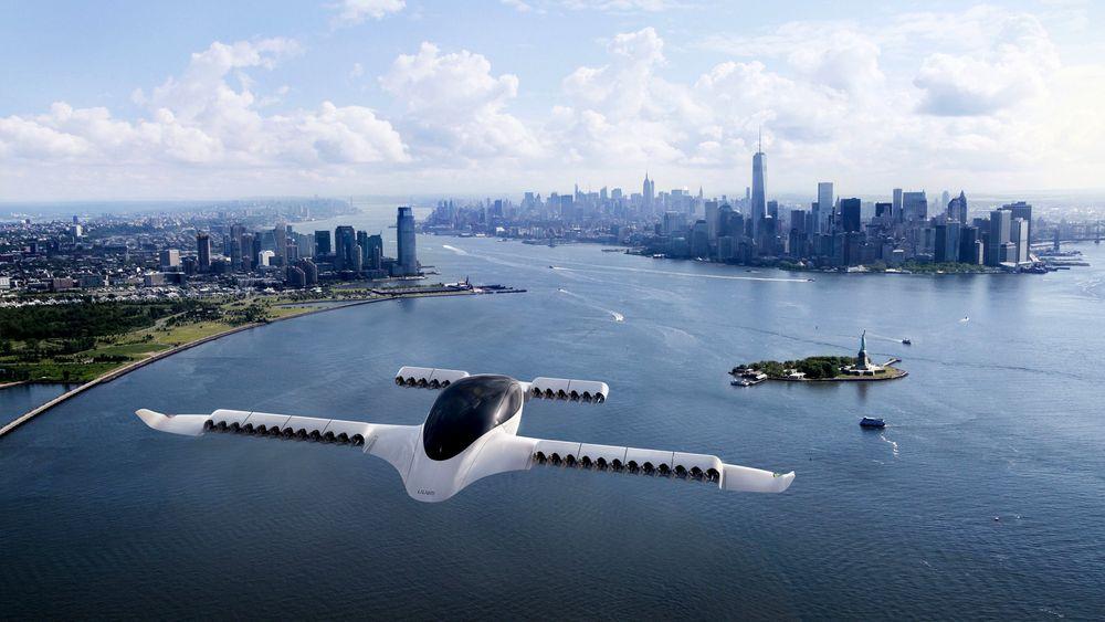 Det tyske Lilium Jet, som nylig ble testflydd for første gang, skal ifølge ambisjonene kunne frakte fem mennesker 300 kilometer. Dette bildet er en illustrasjon.
