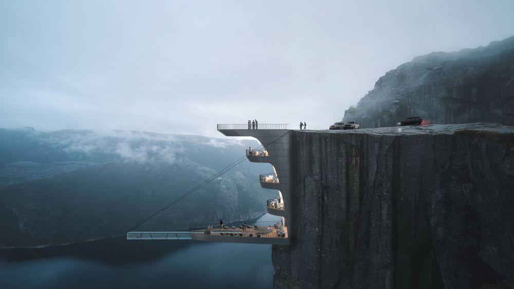 Navnet på konseptet er «Cliff Concept Boutique Hotel».