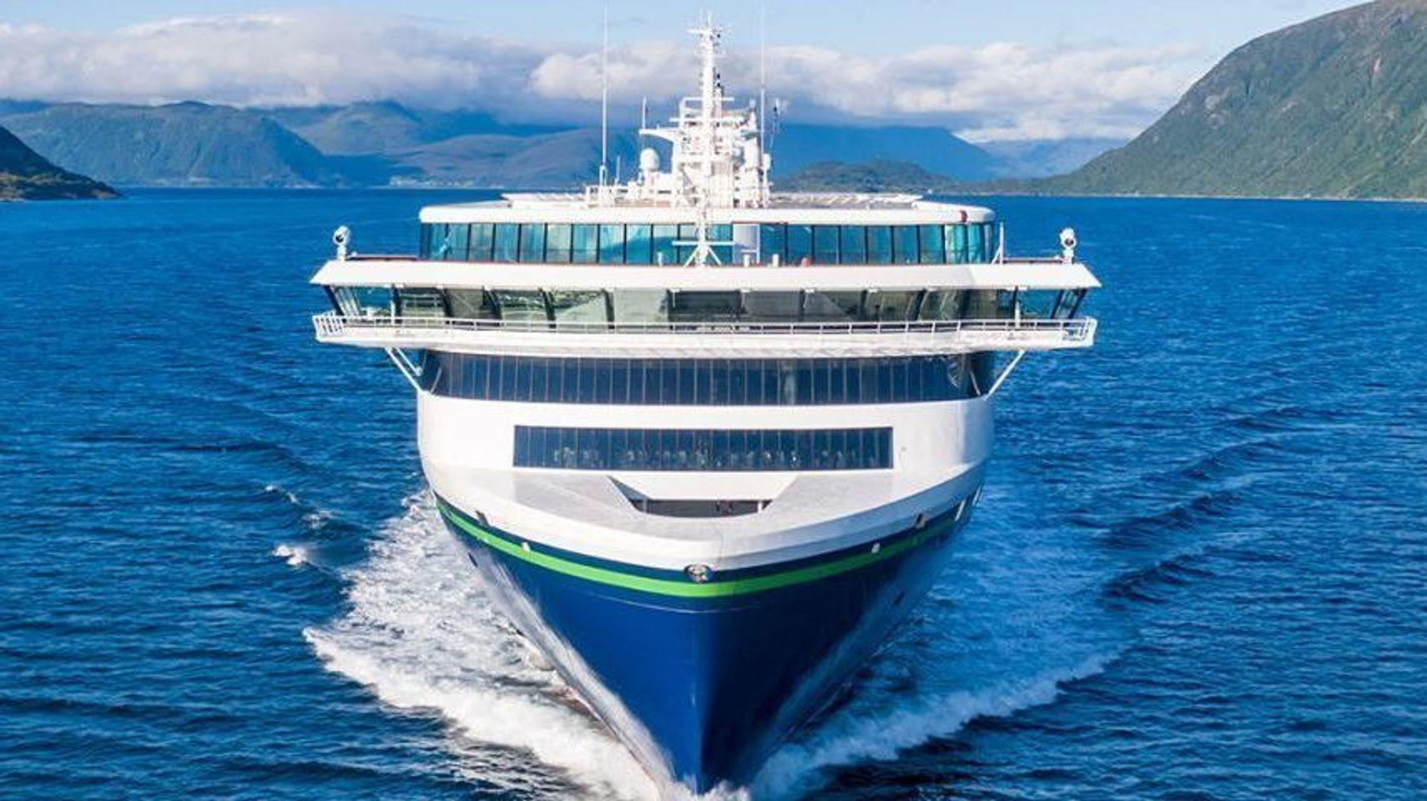 Verdens største plugin hybridskip er levert fra Ulstein verft til Color Line. 9. august går jomfruturen fra Sandefjord til Strømstad.