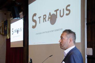 Teknologisjef Stig Alstedt i Hewlett Packard Enterprise representerte alliansepartnerne til Sopra Steria under arrangementet hos Forsvarsmateriell.